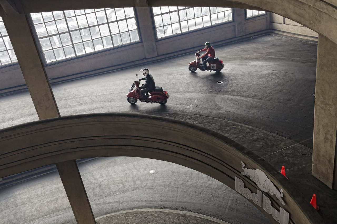 Vespa Racing On The Fiat Factory In Italy Chrislesser Com